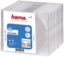 HAMA 51165 CD SLIM BOX CLEAR - CD-Leerhüllen (Transparent)