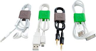 BLUELOUNGE CableClip SMALL - Organizzazione dei cavi (Verde)