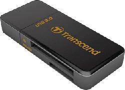 TRANSCEND F5 MULTI CARDREADER USB3 BLACK - Cardreader Stick (Schwarz)