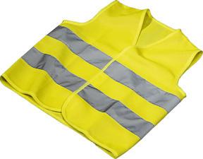 HAMA Automotive - Giubbotto di sicurezza (Giallo neon)