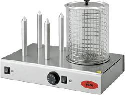 FERO H9349 Hot Dog - Hot Dog Maker (Silber)
