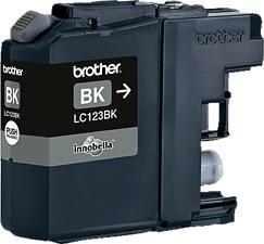 BROTHER LC-123BK BLACK - Tintenpatrone (Schwarz)