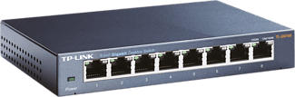 TP-LINK TL-SG108 - Commutateur de bureau (Noir)