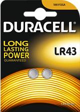 DURACELL Electronics LR43 2er - Batteria a bottone (Argento)
