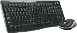 LOGITECH Wireless Combo MK270, suisse - Ensemble clavier-souris sans fil