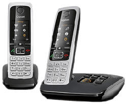 GIGASET C430A Duo - Telefono Cordless (Nero/Argento)