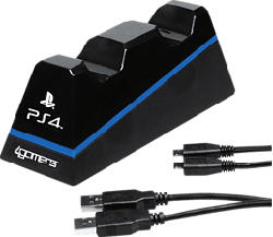 4GAMERS Twin Play 'n' Charge, noir - Station de recharge (Noir)