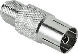 HAMA 122488 ADAPTER SAT/COAX F/F - Adapter (Silber)