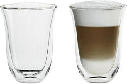 DE-LONGHI DOPPELWANDGLÄSER LATTE MACCHIATO 2PCS - Gläser (Durchsichtig)