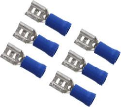 AIV Réceptacle lame - Douille de connexion plate (Bleu/Argent)