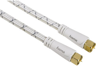 HAMA 122531 CABLE SAT 5.0M 120DB - F-Stecker (Weiss)