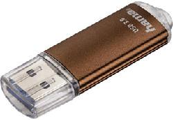 HAMA Laeta - USB-Stick  (64 GB, Braun)
