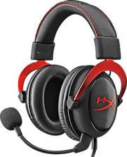HYPERX Cloud II Headset - Casque-micro - Virtual 7.1-Surround-Sound - Rouge - Casque de jeu (Noir/Rouge)
