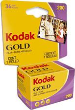 KODAK GOLD 200 135-36 Carded - Film analogique (Jaune/Pourpre)