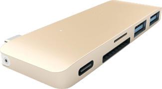 SATECHI PASSTHROUGH - Mozzo USB (Oro)