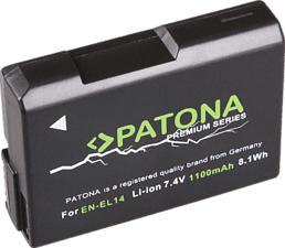 PATONA Premium Akku für Nikon EN-EL14 - Akku (Schwarz)