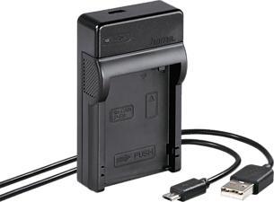 HAMA 00081379 Travel Canon - USB-Ladegerät (Schwarz)