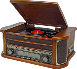 SOUNDMASTER NR540 - Plattenspieler (Holzfurnier)