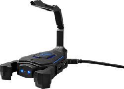 MEDION ERAZER Mouse Bungee X89050 - Supporto per cavo illuminato e hub USB (Nero)