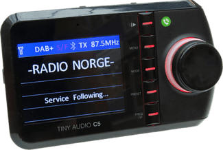 TINY AUDIO C5 - DAB+ Autoradio Adapter (Schwarz)