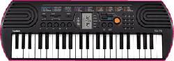 CASIO SA78 - Musikinstrument (Schwarz/pink)