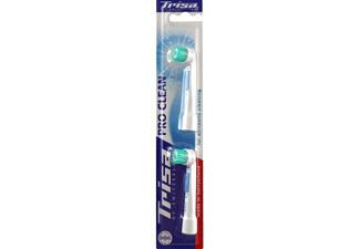 TRISA Set 2 pces. Pro Clean DUO - Blanc - Brosses de rechange