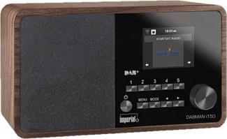 IMPERIAL Dabman i150 - Radio digitale (DAB+, FM, Internet radio, Marrone)