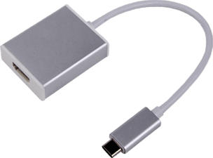 LMP USB-C zu HDMI 2 - Adaptateur avec audio et vidéo (Argent)