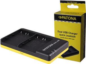 PATONA Dual USB NP-W126 - Caricabatterie
