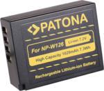 MediaMarkt PATONA Akku für NP-W126 - Li-Ion Akku (Schwarz, gelb)