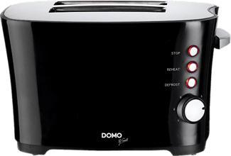 DOMO DO941T - Toaster (Schwarz)