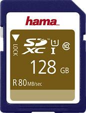 HAMA 124137 Cl 10 - SDXC-Cartes mémoire  (128 GB, 80 MB/s, Bleu)