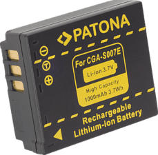PATONA Batterie pour Panasonic CGA-S007E - Batterie (Noir)