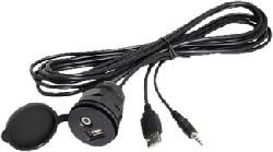RTA 005.001-0 - USB/AUX-Kabel (Schwarz)