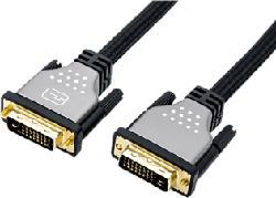 ROLINE Monitorkabel - DVI, ST-ST, (24+1) dual link (Schwarz, silber)