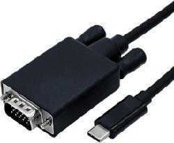 ROLINE 1432218 - Câble USB/VGA (Noir)