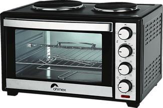 OHMEX OVN-4888HP - Mini forno (Nero/Argento)