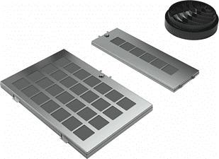 BOSCH DWZ0AF0R0 - Starterset für Umluftbetrieb (Grau/Schwarz)