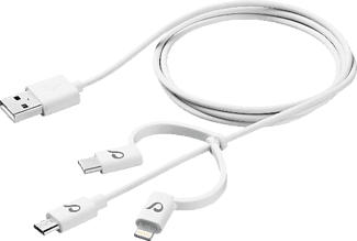 CELLULAR LINE CELLULARLINE USB Cable Triple 3in1 - Datenkabel (Weiss)