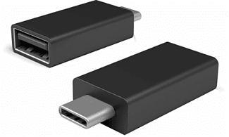 MICROSOFT Surface USB-C-zu-USB 3.0-Adapter - Adapter (Schwarz)