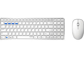 RAPOO 9300M - Tastatur & Maus (Weiss)