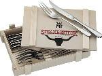 MediaMarkt WMF 12.8023.9990 - Set di posate per bistecca ranch (Acciaio)