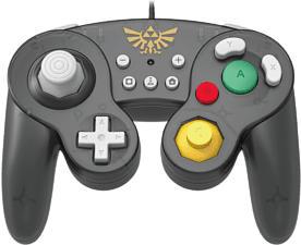 HORI NSW Zelda - Manette USB style GameCube (Noir)