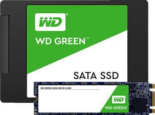 WESTERN DIGITAL Green™ - Festplatte (SSD, 480 GB, Grün/Schwarz)