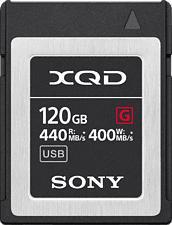 SONY QDG120F - XQD-Carte mémoire  (120 GB, 400 MB/s, Noir)