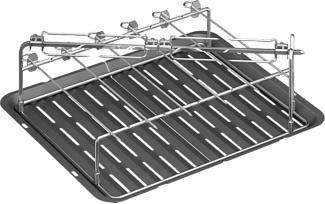BOSCH HEZ635000  Set barbecue-grill per lo spiedo (Nero/Acciaio inossidabile)