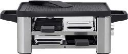 WMF Lono for 4 - Piastra per raclette (Acciaio inossidabile/Nero)