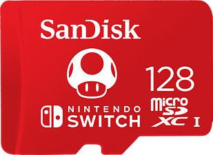 SANDISK Nintendo Switch - MIC-SDX Extreme 128GB - Speicherkarte (Rot)