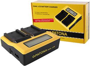 PATONA 7683 Dual - Chargeur (Noir/Jaune)