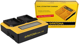 PATONA 7622 Dual - Chargeur (Noir/Jaune)